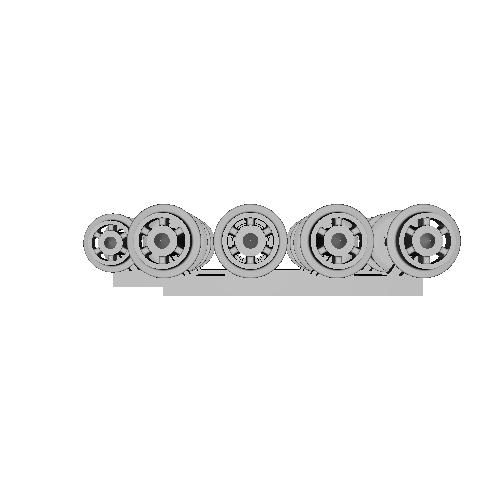 鉄道模型1/87 9mm用 3.4mm車輪-D