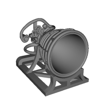 Rocket Engine with Stand S size