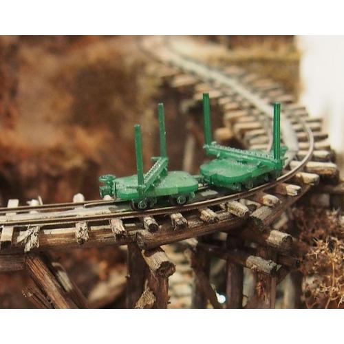 鉄道模型 1/87 森林鉄道のモノコックタイプ運材台車_A