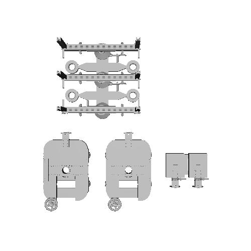 鉄道模型 1/87 森林鉄道のモノコックタイプ運材台車_B