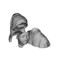 真珠の耳飾りの女 無色原型用
