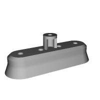 SDジオラマ用 ガンプラ アク○ズのバーニア1 LED発光可能