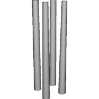テーパーつき(角度つき)パイプ ライフリング多 2本セット
