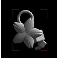 桜と立方体のチャーム