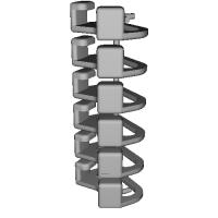 三角リング用カバー M(ベルト幅10mm)6個セット