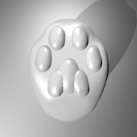 Cat Paw Ring - d19