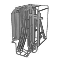 上野懸垂電車M形・橋脚と軌道桁のセット