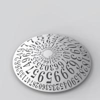 ネイピア数コンチョ 直径35mm