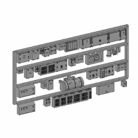 Nゲージ鉄道模型用 床下機器(地方私鉄2両編成)