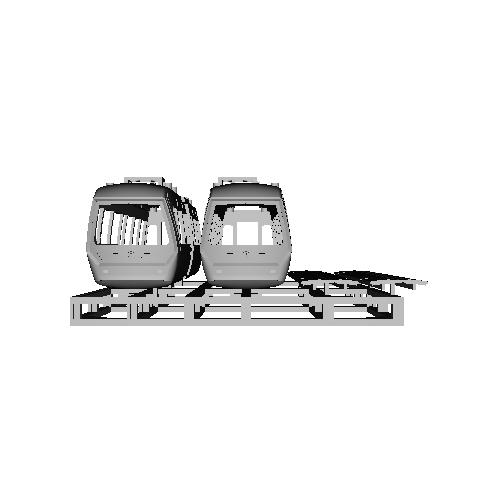 上野懸垂電車M形・車体と底板