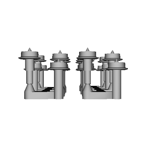 鉄道模型1/87 9mm用 3.4mm車輪-B