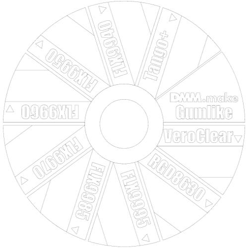 素材サンプル ゴムライクプレート