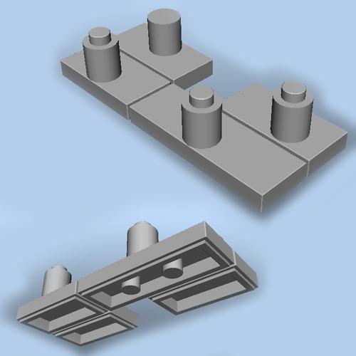 秋月Arduino互換マイコン基板用 レゴマウンタ
