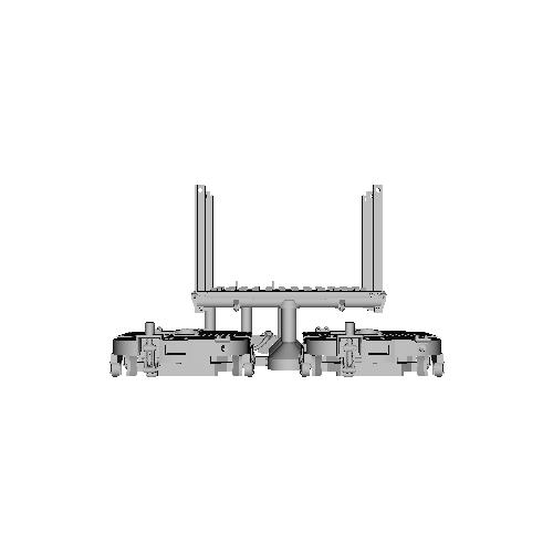 鉄道模型 1/87 森林鉄道のモノコックタイプ運材台車_C