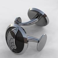 カフスボタン-羽モチーフ (Wing-cufflinks)