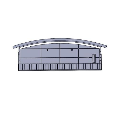 (150分の1)名鉄 無人駅タイプ (屋根分離可能)駅舎A
