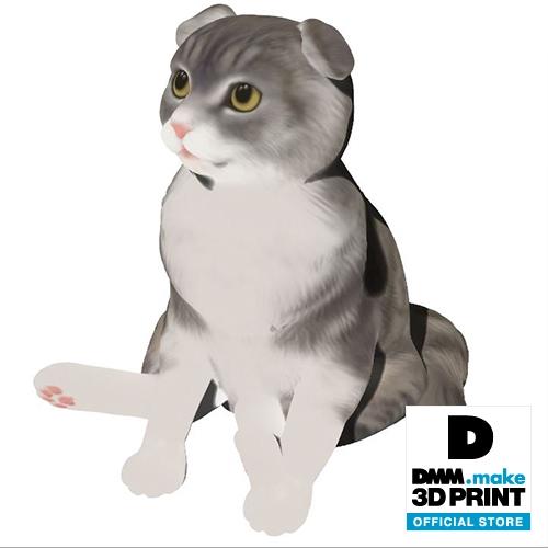 猫フィギュア(スコティッシュフォールド)