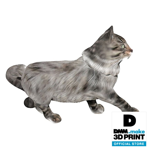 猫フィギュア(ノルウェージャンフォレストキャット)