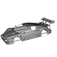 NSXコンセプトGT 1/32スロットカー用ボディver6.43 リヤスポ付