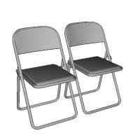 1/35 パイプ椅子(2個セット)