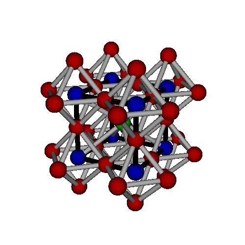 ペロブスカイト型の結晶構造