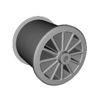 ミニ四駆 小径ホイール幅  約23mm シャフト穴2mm