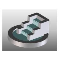 噴水(水なし)段差形状 1/150ジオラマ