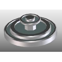 噴水(水なし)円形状 1/150 ジオラマ