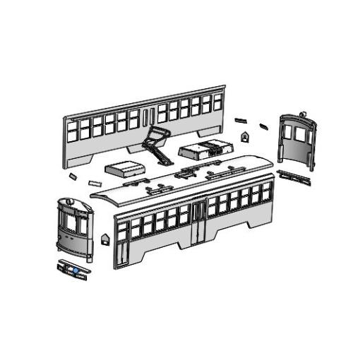 (Nゲージ)広島電鉄 750形タイプ 組立てキット