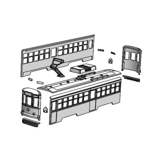 (Nゲージ)広島電鉄 600形タイプ 組立てキット