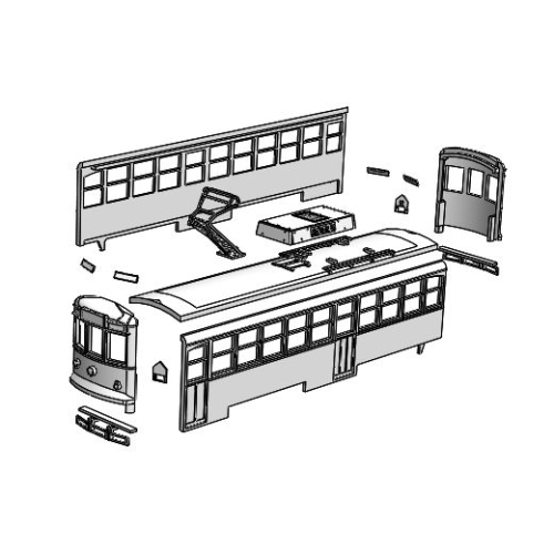 (Nゲージ)広島電鉄 1100形タイプ 組立てキット