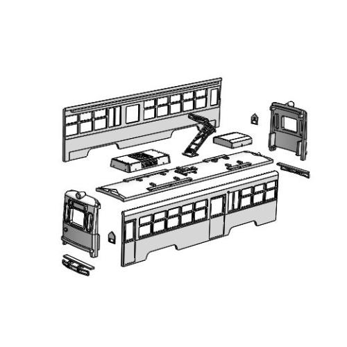 (Nゲージ)広島電鉄 900形タイプ 組立てキット