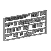 Nゲージ鉄道模型用 床下機器(地方私鉄2両編成,1M1T)