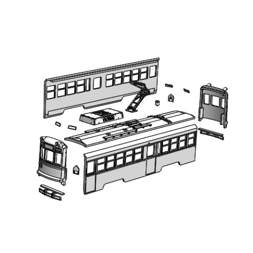 (Nゲージ)広島電鉄 1900形タイプ 組立てキット