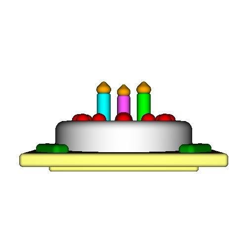 オルゴールボックス・蓋 ~Birthday Cake 3 Candles~