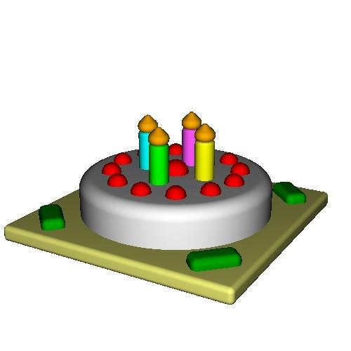 オルゴールボックス・蓋 ~Birthday Cake 4 Candles~
