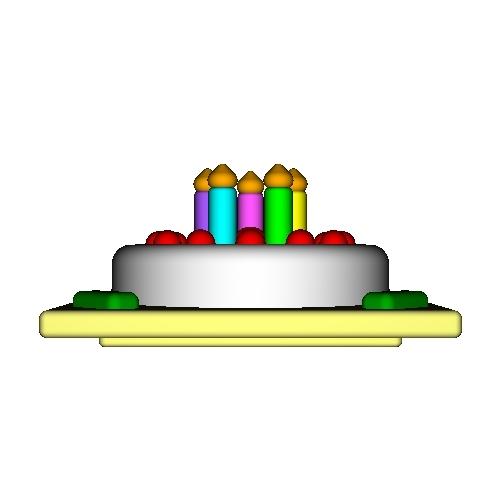 オルゴールボックス・蓋 ~Birthday Cake 5 Candles~