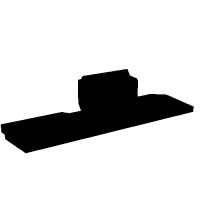 【純正形状】APS-3用リアサイト(照門幅2.3mm).stl