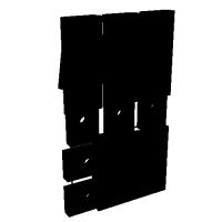 【純正形状】APS-3用フロントサイト・セット.stl