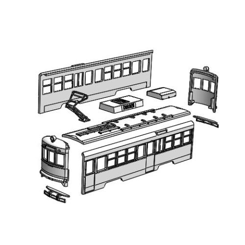(Nゲージ)伊予鉄道 モハ50前期形タイプ 組立てキット