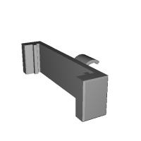 カーLED表示板キャッチブラケット.STL
