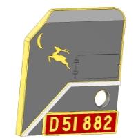 D51882月と鹿オーナメント