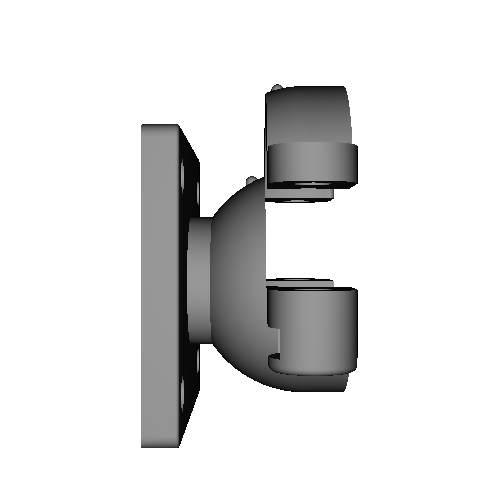 1インチボールに直接取り付けできるユピテルバイクナビ用マウント