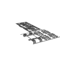 JR四国 8600系 床下機器、台車2両セット(E11~E14編成)