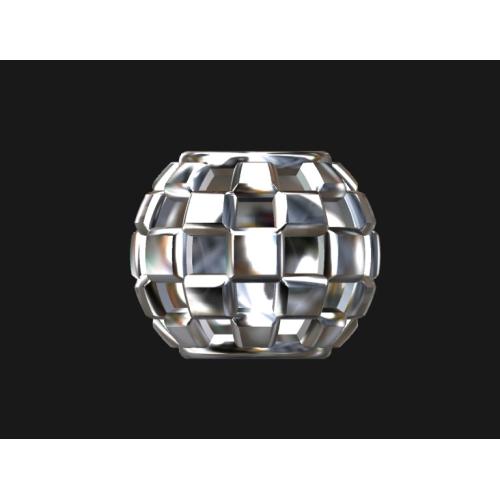 格子ベビーリングネックレス (直径10mm)
