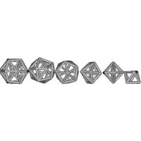 正8面体、双六角錐、太った16面体、正20面体、太った24面体、太った28面体