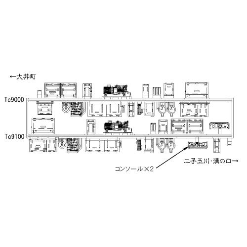 Nゲージ東急9000系風床下機器大井町線クハだけ2両セット