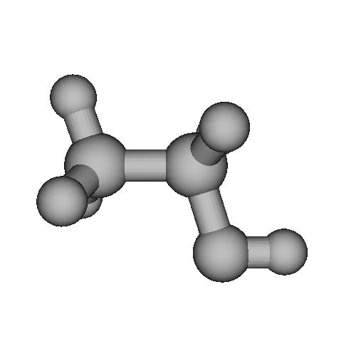 エタノールの分子模型(1億倍)