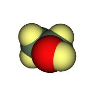 エタノールの分子模型(7000万倍)