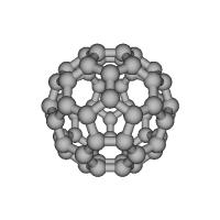 フラーレンの分子模型(5000万倍)